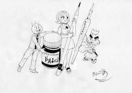 漫画を描くときペンにつける墨は百円均一の墨汁で大丈夫なのか 天才
