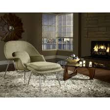 Living Room Chair And Ottoman Set Eero Saarinen Style Womb Chair Ottoman Set In Oatmeal Isamu