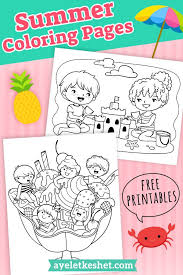 Create your own coloring book for kids of all ages. Adorable Summer Coloring Pages For Kids Ayelet Keshet