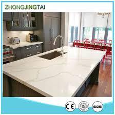white calacatta artificial quartz stone countertop for bathroom and kitchen pictures photos