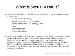 Types of sexual assaults