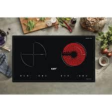 Bếp điện từ hồng ngoại đôi cảm ứng Kaff KF-073IC+Tặng Máy hút mùi nhà bếp  cổ điển Kaff
