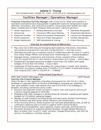 facilities manager resume objective cipanewsletter cover letter resume sample for office manager sample resume for
