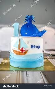 Design Sugarcoated Birthday Cake Oneyearold Boy Stock Photo Edit