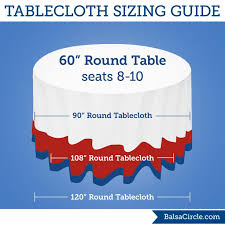 the best round tablecloth size guide regarding what for a 5ft table about tablecloths for 5ft round tables ideas