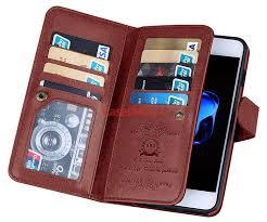 brg iphone 8 plus wallet 9 card slots detachable magnetic case