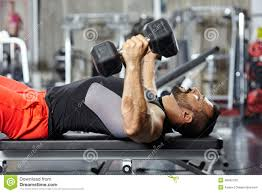 chest and triceps workout stock image image of control 48602739