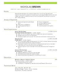 Sample Of A Cv Resumes
