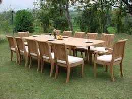 outdoor wood dining table set. large-teak-dining-set this particular outdoor teak furniture wood dining table set c