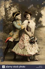 th century w beauty stock photos th century w beauty  18th century upper class couple flirting stock image