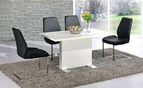 swingeing black and white dining room chairs white dining table black chairs white high gloss dining
