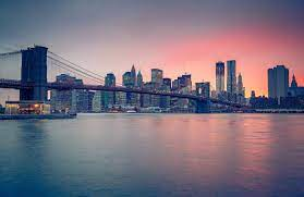 Sunset Over NYC Wallpaper Mural