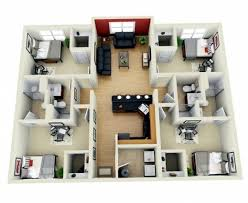 Outstanding Modern 4 Bedroom House Design 3d Plans Amazing 4 Bedroom Home 4  Bedroom House Plan 3D Image