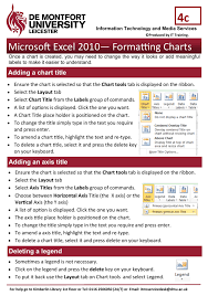 Excel Chart Help 2010 Microsoft Excel 2010 Formatting Charts