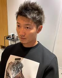 西川遥輝選手ご来店 髪色を暗くしました 短髪似合いすぎですね
