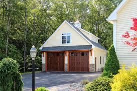 newport barn garage with timber frame eyebrow roof
