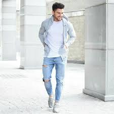Light Blue Jeans Men S Style Pinterest 6ixtid S Menswear Blue Ripped Jeans Urban Fashion
