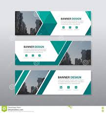 banner design template green triangle abstract corporate business banner template
