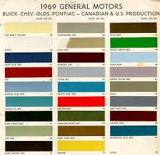 1969 Chevelle Paint Charts And Codes