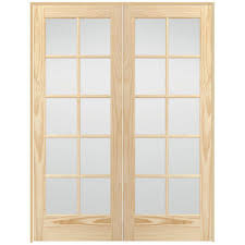 Steves & Sons 48 in. x 80 in. 10-Lite Glass Solid Core Unfinished ...