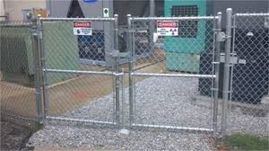 chain link fence double gate. Chain Link Gate Fence Double F