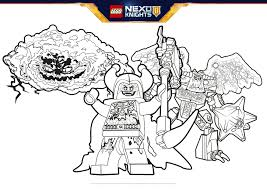 A New Threat Coloring Pages Lego Nexo Knights Legocom Us
