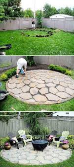 diy circle outdoor fire pit area design diy fire pit ideas and projects