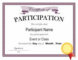 Samples Of Certificates Of Participation Pin By Bob Baash On Bob Pinterest Certificate Of Participation