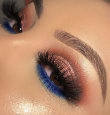 65 eye catching blue eyeshadow makeup looks for prom
