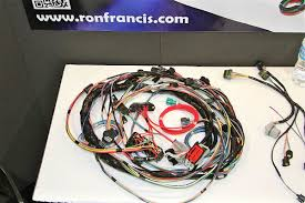 sema 2012 ron francis wiring kit simplifies 4 6 liter ford swaps 4.6 dohc stand alone harness at 4 6 3v Wiring Harness