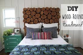 diy wood round headboard
