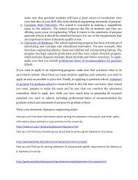 Sample Statement Of Intent Purpose Graduate School Examples Ywiec 4