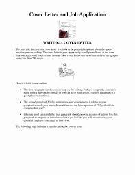Bistrun Inspirational Job Application Cover Letter Templates
