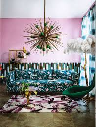 Pink And Green Living Room Colour Crush Emerald Green With Pink Sophie Robinson