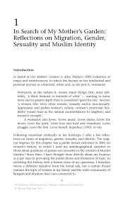 in search of my mother s garden reflections on migration gender inside