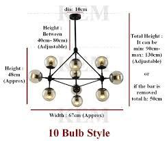 5 10 15 globe jason miller modo chandelier replica light lamp pendant