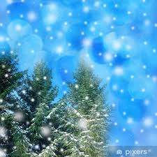 Christmas Background Winter Christmas Background Wall Mural Vinyl