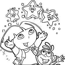 Small Picture Dora coloring pages explorer stars ColoringStar