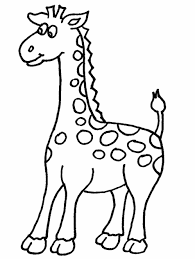Cute Baby Giraffe Coloring Page Coloring Page Book