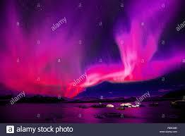 Purple Pink Northern Lights Pink Northern Lights Jpg R65cme Stock Photo 227542462 Alamy
