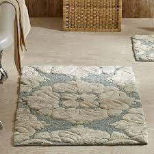 rustic medallion bathroom rug