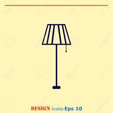 Haushaltsgeräte Symbol Tischleuchte Stehlampe Kronleuchter Symbol Vektor Illustration