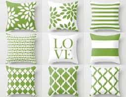 green decorative pillows. Contemporary Decorative Green White Pillow Cover Rosemary Green Accent Pillows Cushion Cover Decorative  Pillows In