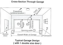 garage sizes dimensions within size of single garage door plans garage sizes canada