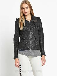 fashionable patterns superdry megan flag slim leather jacket womens jackets jecoy winter coats womens coats colour black