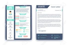 Resume And Cover Letter Template Flat Style Vector Illustration