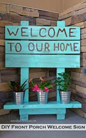 beautiful diy front porch welcome sign