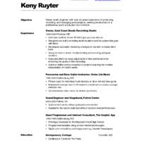 ... Qualified Audio Engineer CV Resume Template Example with Over 20 Years  of Experience a part of ...