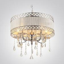 the fashion style chandeliers drum crystal lights beautifulhalo pertaining to awesome house drum shade chandelier with crystals prepare