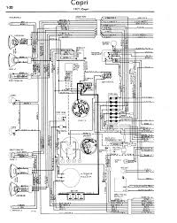 1971 ford capri wiring diagram front and rear lights and instruments